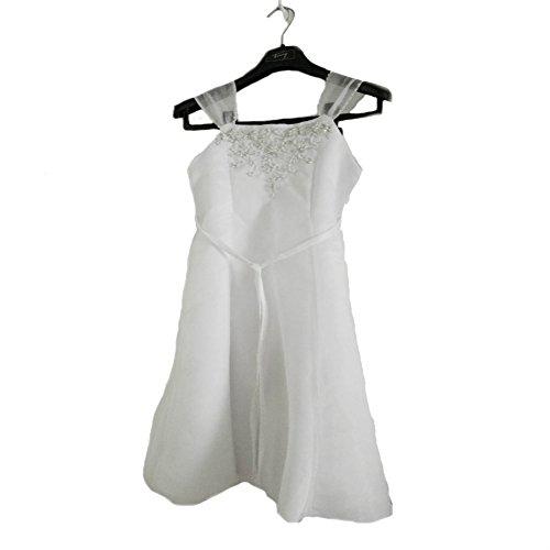 Sleeveless Square Neck Tie Rope Ball Gown Flower Girl Formal Dress - Satin/Tulle
