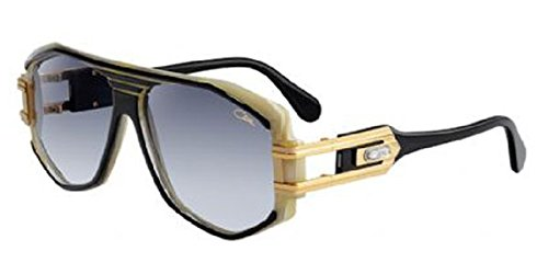 Cazal 163 095 Black Gold Ivory Grey Gradient Sunglasses 59 mm (Cazal 163)