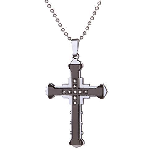 CHASIROMA Unisex Stainless Steel Pendant Necklace Cross Chain for Women Men Easter Gift