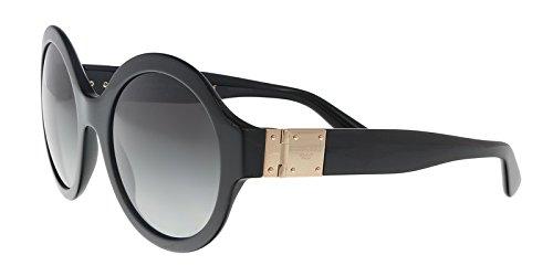 (Dolce & Gabbana Women's Round Sunglasses, Black/Grey, One Size)