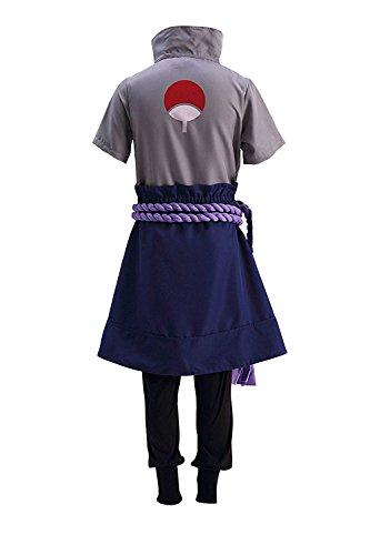 DAZCOS Kids Size Anime Uchiha Sasuke Cosplay Costume with Wristbands Rope (Child Large)