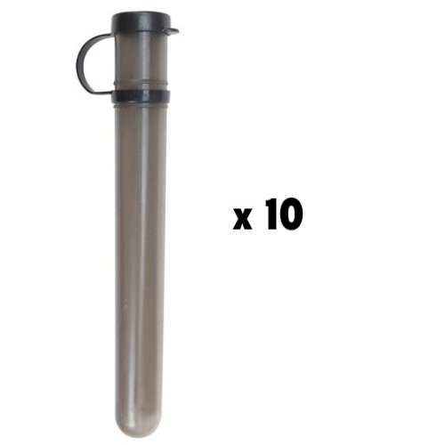 Empire 10 Round Paintball Tube w/ Tethered Lid - Smoke - 10 Pack (Rnd Tube)