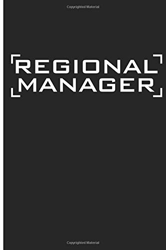 Regional Manager: Manager Blank Lined Journal Planner