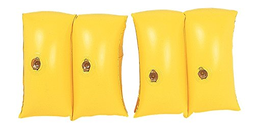 Set of 2 Inflatable Yellow Swimming Pool Arm Floats - - Wings Kiddie