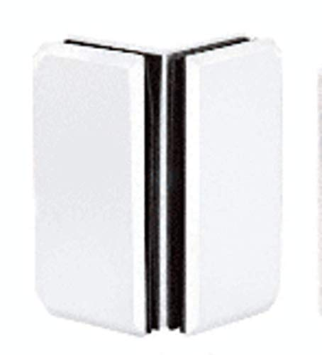 Monaco Series Glass - C.R. LAURENCE M0090W CRL White Monaco Series Glass-to-Glass Bracket