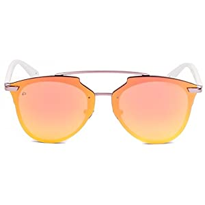"PRIVÉ REVAUX ICON Collection ""The Benz"" Handcrafted Designer Geometric Sunglasses For Men & Women (Pink)"