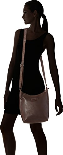 Spikes & Sparrow Pouch - Bolsos bandolera Mujer Marrón (Dark Brown)
