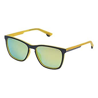 Police Square Men'S Sunglasses - Spl573M, 55 Yellow