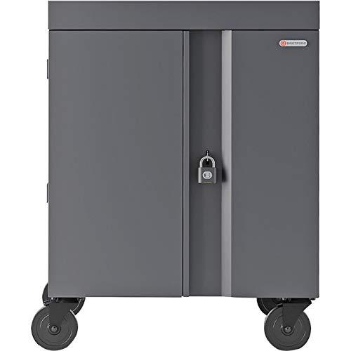 Bretford Cube Cart for 32 Netbooks/Tablets Gray, Charcoal (TVC32PAC-CK) - Computer Cart Storage Laptop Bretford