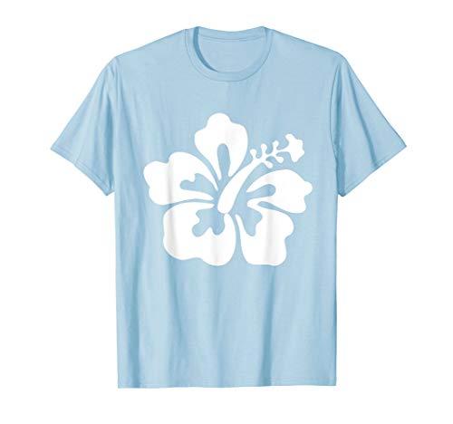 Hawaiian White Hibiscus - Hawaiian Flower T shirt