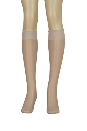 (Lissele Full Support Women's Plus Size Knee High 3 Pack (Taupe (Light), XXL))