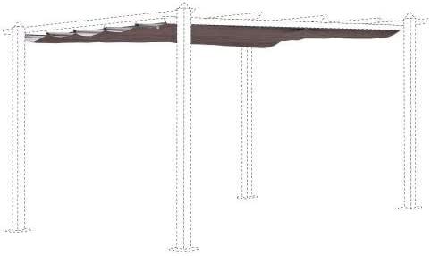 Alices Garden - Lona de Techo para cenador (3 x 4 m), marrón: Amazon.es: Jardín
