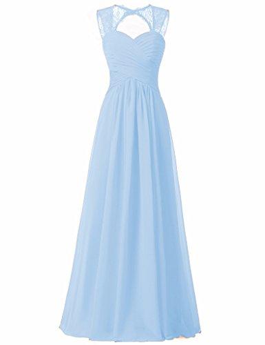 blue a line bridesmaid dresses - 7