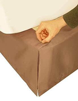 Queen Size Veratex The Hike Up Your Skirt Collection Adjustable 3 Piece Solid Pattern Polyester Fabric Ruffle Bed Skirt Set Taupe 455629