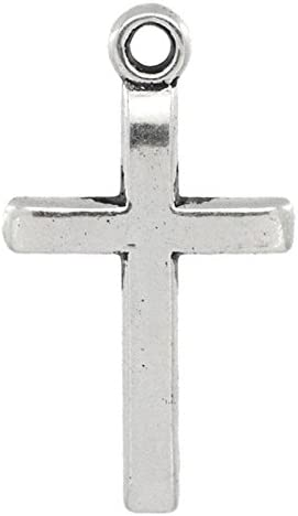 10 St/ück Sadingo Metallanh/änger Kreuz Schmuckanh/änger Antik Silber Ketten 24 x 14 mm,Schmuck basteln wie Armb/änder