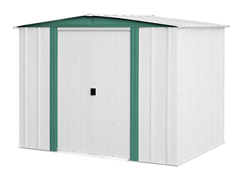 arrow sheds hm86 hamlet steel storage shed 8 by 6feet
