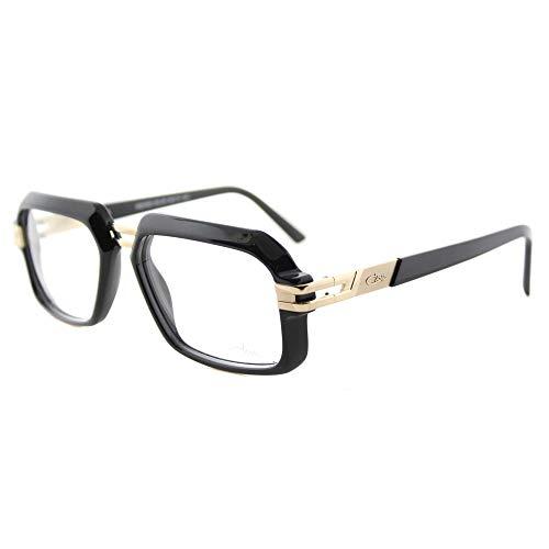 c182cfb6f786 Cazal 6004 001 Unisex Shiny Black Gold Plastic 56-millimeter Rectangular  Eyeglasses