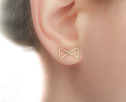 14k Gold Filled Bow - Elegant Bow Studs 14k Gold Filled Earrings