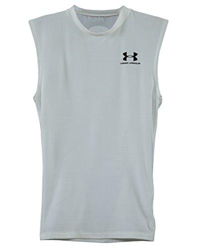 Under Armour White Sleeveless T Shirt