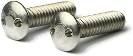 #6-32 x 1 Qty 100 18-8 Stainless Steel Spanner Security Oval Head Machine Screws