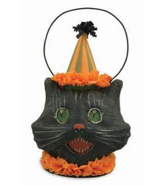 Bethany Lowe Sassy Cat Mini Bucket -