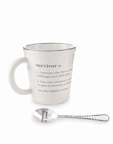 Mug Coffee Survivor - Mud Pie 4355082S Survivor Definition Mug, One Size, White
