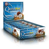 Quest Bar 100% Natural Coconut Cashew - Low Carb, High Protein Bars that are High Fiber and Gluten Free