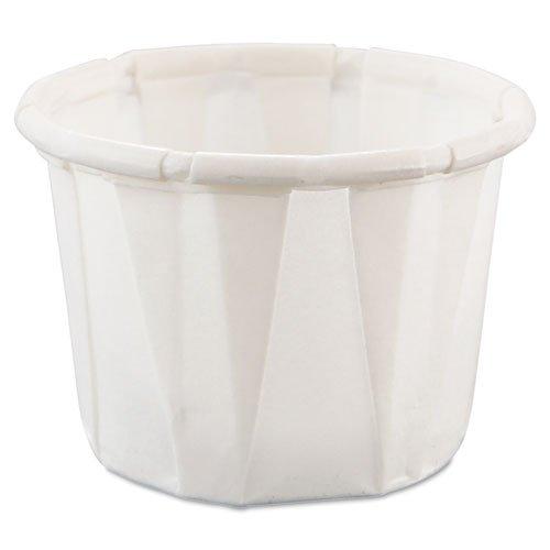 0.5 Sauce Ounce (SOLO SCC050 Paper Portion Cups .5oz White 250/Bag 20 Bags/Carton)