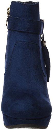 XTI Botin Sra. Antelina Navy, Zapatos De Tacón con Punta Cerrada para Mujer Azul (Navy)
