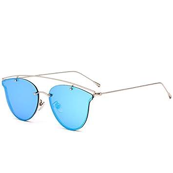 GCR Sonnenbrille Schatten Polarisierende Brille Neue Mode-Trend Der Reflektierenden Sonnenbrille Damen Retro-Blatt Street Sonnenbrillen Männer , D