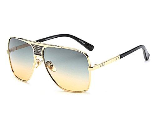 Grandes Sol Unisex Gafas Lente Aviador Cuadrado De Retro Té Oro Hombre Metal Redondas Marco Vintage Verde Clásicas uv400 rq15Y1nx