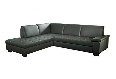 Letto Grigio Scuro : Angolare divano letto iowa l grigio scuro in ecopelle: amazon.it