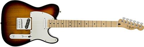 Fender Standard Telecaster Electric Guitar - Maple Fingerboard, Brown Sunburst (Burst Maple Guitar)