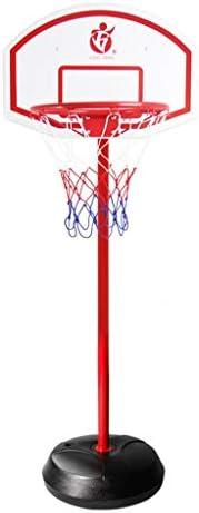ユースバスケットボールフープ、屋外屋内の撮影フレーム、子供のバスケットボールフープ、5ナンバーのバスケットボールを投げることができ、大規模なベースはバックボード肥厚、2メートル、2.7メートル (Color : Red, Size : 2.4m)
