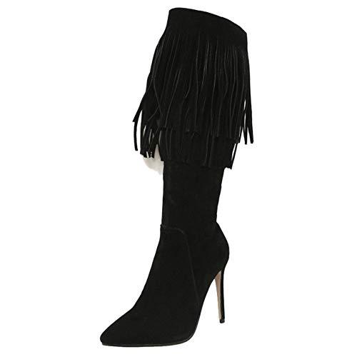 Nero Nero Nero nbsp;Fashion 8 RAZAMAZA Heel nbsp;Donna nbsp;Donna nbsp;Donna nbsp;Donna Stiletto Boots Long 4PxqYxa