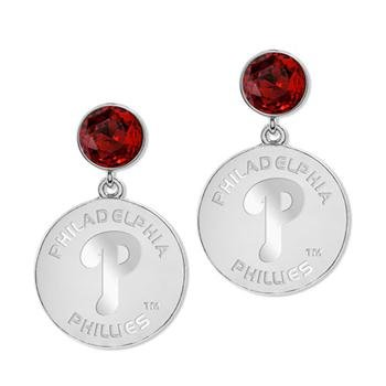 Game Time Offical MLB PHILADELPHIA PHILLIES P LOGO Disc Earrings