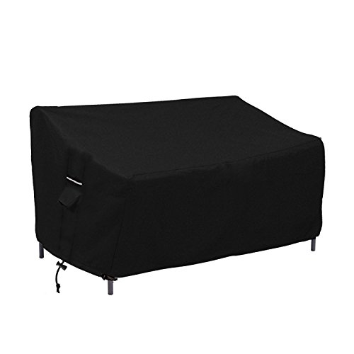 Patio Bench/Loveseat/Sofa Cover - Durable and Water Resistant Outdoor Furniture Cover(L63 x W33 x H32 (Black Patio Furniture Covers)