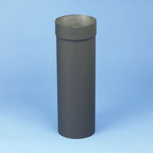Chimney 21170 6 x 18 Inch Heat-fab 22-ga Welded Black Stovepipe Slip Connector Adjusts 4 Inch To 16 Inch