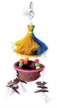 Prevue-Hendryx Tropical Teaser Tiki Hut Bird Toy