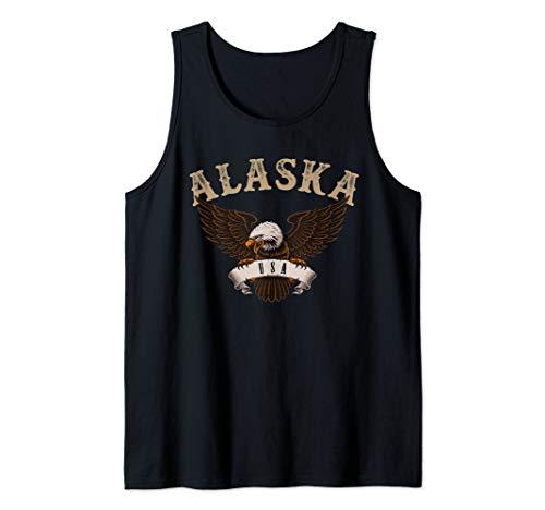 (Alaska USA Bald Eagle Tank Top )