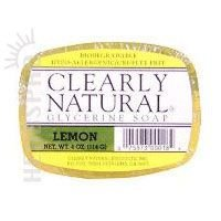 Clearly Natural - Pure and Natural Soap with Essential Oils and Vegetable Glycerine, Lemon - 4 oz Bar (3 - Glycerin Soap Essential Oil