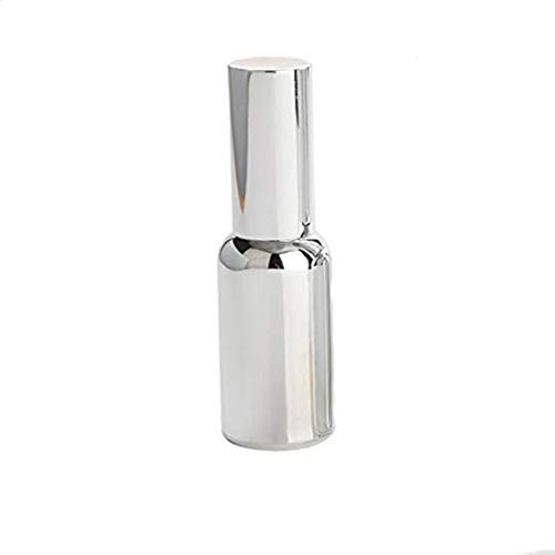 1 PCS 30ML Upscale Empty Gold Plated Silver Plated Refillable Glass Protable Perfume Pen Sprayer Atomizer Spray Bottle Vial Container Pot Jar Best for Travel Packing (Silver)