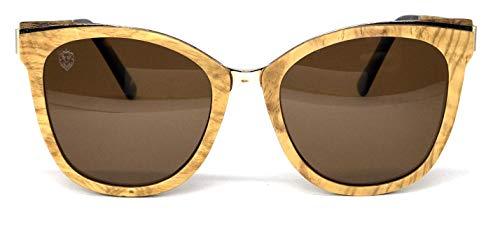 Óculos de Sol de Madeira e Metal Moccia Brown, MafiawooD