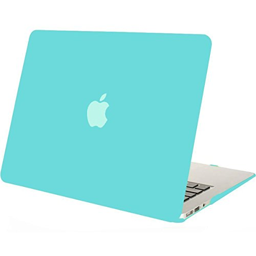 MOSISO Plastic Hard Shell Case Cover Only Compatible MacBook Air 13 Inch (Models: A1369 & A1466), Not Compatible 2018 Version A1932 with Retina Display, Turquoise