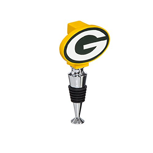 Team Sports America Green Bay Packers Hand-Painted Team Logo Bottle Stopper ()