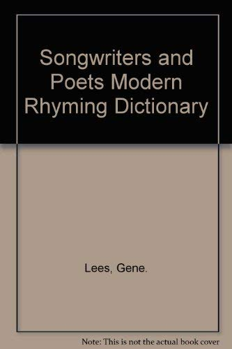 Songwriters and Poets Modern Rhyming Dictionary