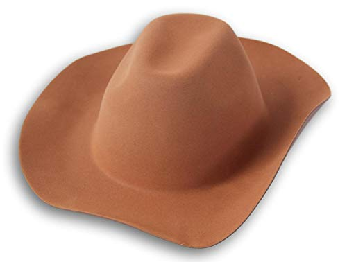 (Spooky Town Dress Up Halloween Costume Foam Cowboy Hat - Crown Measures 6.5 x 8 Inches - One Size Fits Most (Brown))