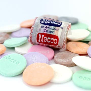Necco The Original Candy Wafer, Fat Free & Gluten Free, 4 oz (Pack of 2) by Necco