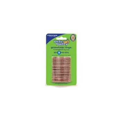 PetSafe Busy Buddy Refill Ring Dog Treats for select Busy Buddy Dog Toys, Natural Rawhide from Premier