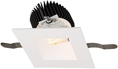 WAC Lighting R3ASAT-N840-WT Aether Square Adjustable Trim with LED Light Engine Narrow 25 Beam 4000K Cool White